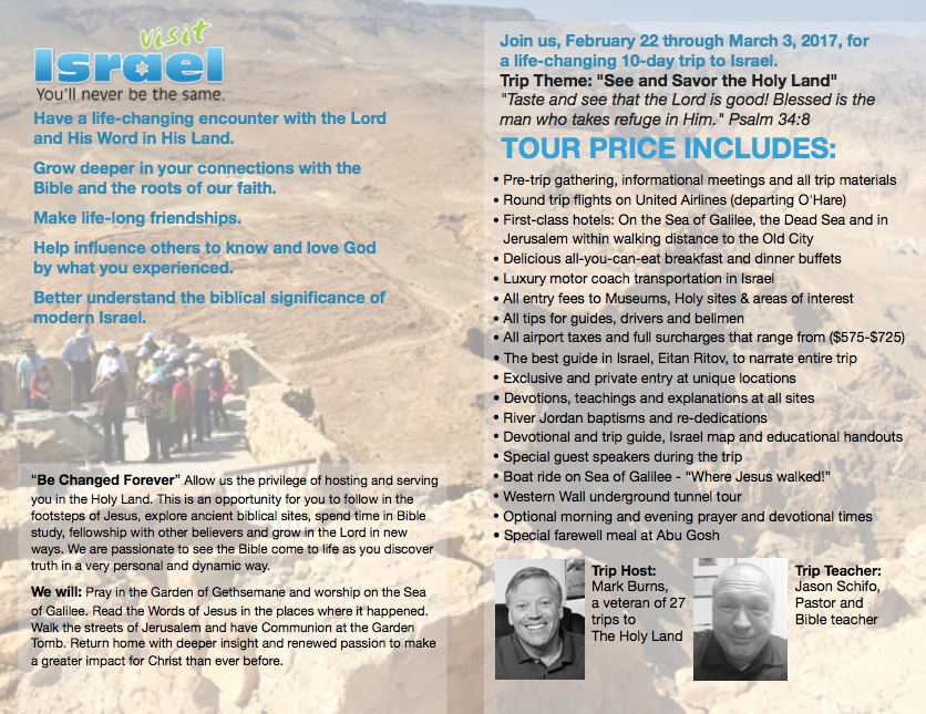 Israel Tour Offering