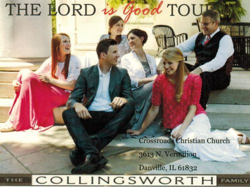 "Coming to Danville this Saturday, to the Crossroads Christian Church, learn all about the Collingsworth Family from Phil Collingsworth on today's edition of ""Mark & Friends"".  This interview is archived.  Tickets/more info call Les at 217-841-3132"